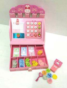 SK-Toys ชุดแคชเชียร์ กระต่ายสีชมพู ยี่ห้อ Mother Garden (Usamomo Cash Register)