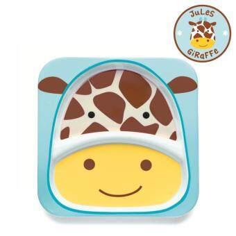 Skip Hop จานสำหรับเด็ก ดีไซน์น่ารัก Zoo Divided Plate Giraffe Style