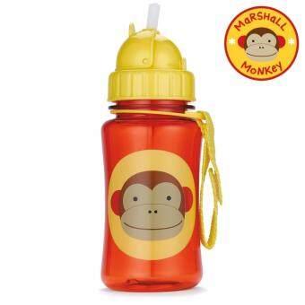 Skip Hop กระติกน้ำพร้อมหลอดดูด Zoo Straw Bottle MonkeyStyle