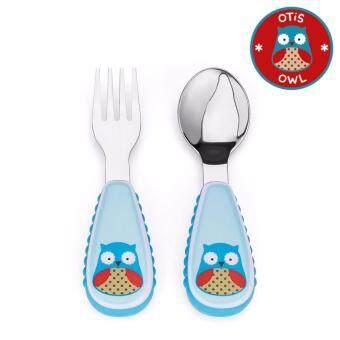 Skip Hop ชุดช้อน-ส้อม สำหรับเด็ก Zootensils Fork & Spoon Owl