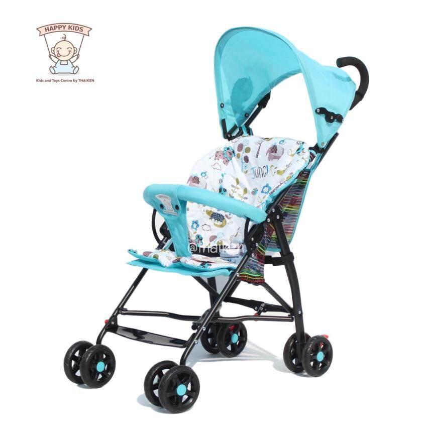 Thaiken รถเข็นเด็กพับได้เบาะนุ่มสองชั้น Foldable Mini Baby Stroller (Blue) ...
