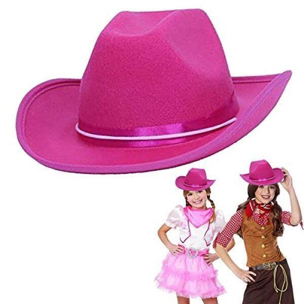 Toys Cowboy Cowgirl Pink Hat Child Country Pink ow Boy Felt Costume Hat - intl