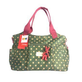 Winghouse - Daily Dot Nappy Bag-กระเป๋าสัมภาระ-สีเขียว