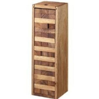Wood Toy ของเล่นไม้ Number Block (Size M) Wooden JenGa Game 54 Pcs
