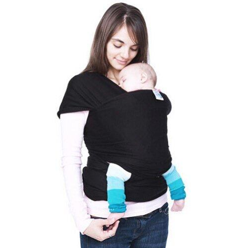 Yika Baby Sling Stretchy Breastfeeding Wrap Carrier for Birth -3 Yrs (Black)