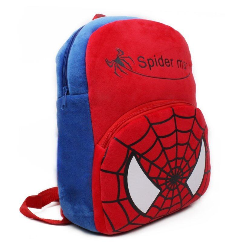 Zmomma Spider man Kindergarten Kids school bags backpack(Red)
