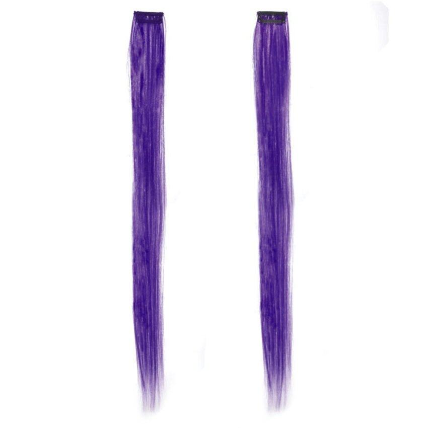 2x 20 50cm Fashion Colored Clip in Hair Extensions Beauty Salon Hair Wigs Cosplay - intl ...