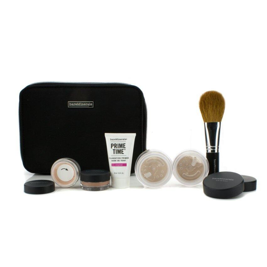 Bare Escentuals BareMinerals Get Started Complexion Kit For Flawless Skin - Light 6pcs+1clutch