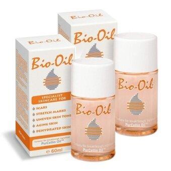 Bio oil ผลิตภัณฑ์รักษาแผลเป็นและรอยแตกลาย 60 ml. ( 2 ขวด)