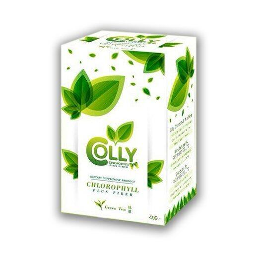 COLLY Chlorophyll Plus Fiber คอลลี่ คลอโรฟิลล์ พลัส ไฟเบอร์ (15 ซอง) ...