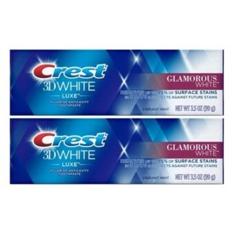 Crest 3D white luxe fluoride anticavity toothpaste Removes up to95% of stains in 3 days & Protects against future stainsWhitening Toothpaste ขนาด 99 g. x2ชิ้น