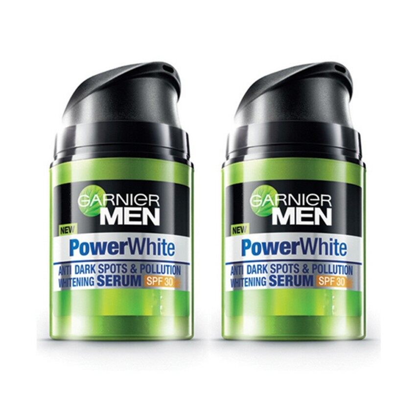 GARNIER ชุดสุดคุ้ม การ์นิเย่ เมน พาวเวอร์ ไวท์ เซรั่ม SPF30 40 มล. ( 2 ขวด) GARNIER MEN Power White Serum SPF30 40 ml ( 2 Bottles)