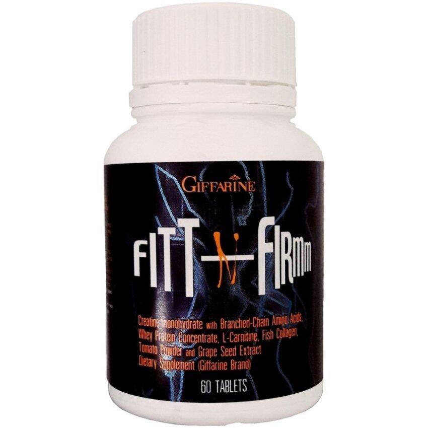 Giffarine Fit n Firm Whey Protein Concentrate ฟิต แอน เฟิร์ม เวย์ โปรตีนเข้มข้น อาหารเสริม ซิกแพค กล้ามใหญ่ กล้ามโต เพิ่มกล้ามเนื้อ 60 Tablets ...