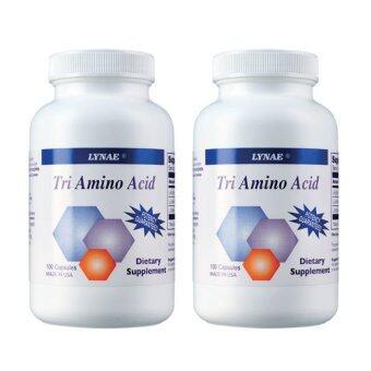 LYNAE กรดอะมิโน 3 ชนิด Tri Amino Acid (100 Capsules) 2 ขวด