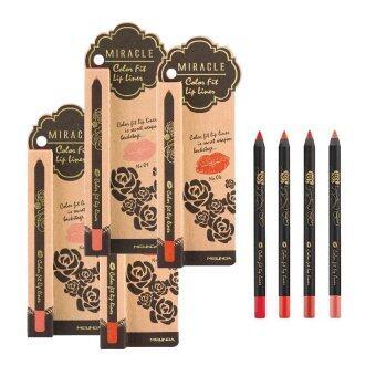 Mei Linda Miracle Color Fit Lip Liner เบอร์ 2,3,4,5 ครบสีเบอร์ขายดี ( 4 แท่ง)
