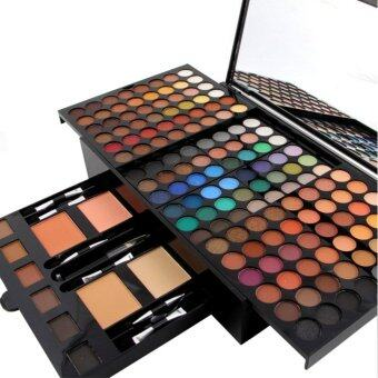 Miss Rose Brand180 Colors Eyeshadow Palette Matte Nude Shimmer Eye Shadow Palette With Brush Eyebrow Powder Blusher - intl