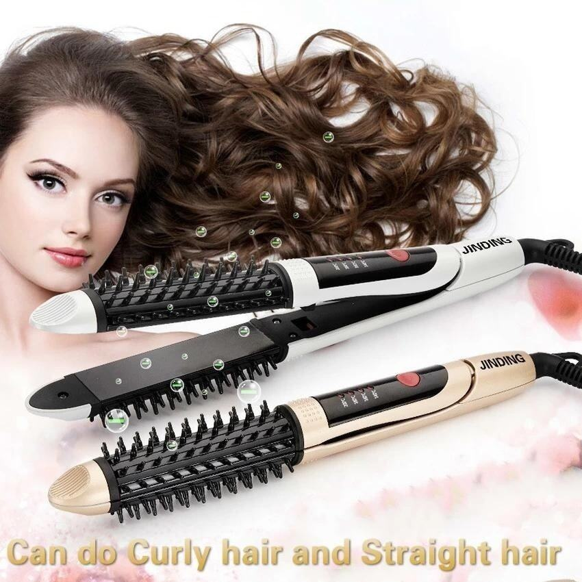 New Ceramic Curling Hair Straightener Hair Curler 28mm Thermostat(Gold) - intl ...