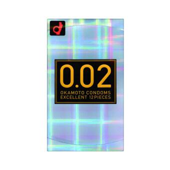 Okamoto EX บางพิเศษ 0.02 ถุงยางอนามัย (12 ชิ้น)