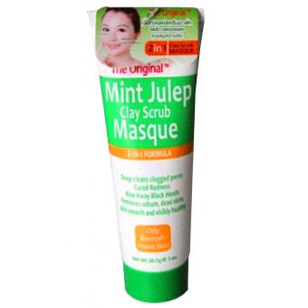 Queen Helene The Original Mint Julep Clay Scrub Masque สครับผิวหน้า (56.7g)