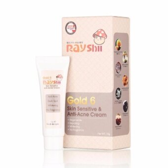 Rayshi Gold 6 Skin Sensitive & Anti-Acne Cream ครีมเห็ดสด 10g