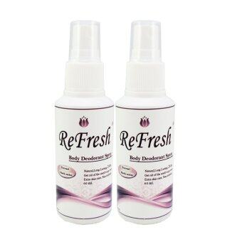 Refresh Deodorant Spray สเปรย์น้ำหอมระงับกลิ่นกาย Ferrari Black series 60ml. แพ็คคู่ (สีดำ)