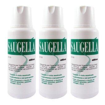 Saugella Attiva pH 3.5 ซอลเจลลา แอ็ทติวา 250ml. (3ขวด)