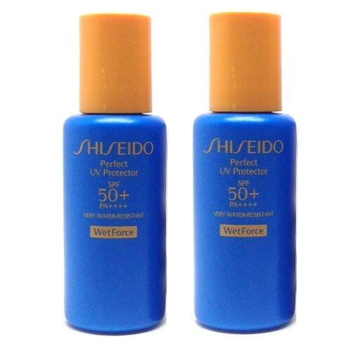 Shiseido Perfect UV Protector SPF50+ PA++++ WetForce 15ml.x 2 ...