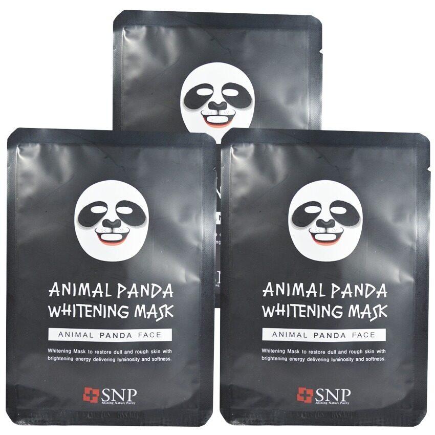 SNP Animal Panda Whitening Mask แผ่นมาส์คหน้ารูปสัตว์ (3 แผ่น) ...