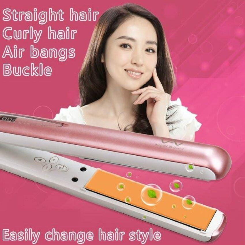 The Negative Ion Does Not Damage the Hair Straightener RollDual-purpose Ironing Board Ceramic Hair Stick (Rose Gold)(OVERSEAS) - intl