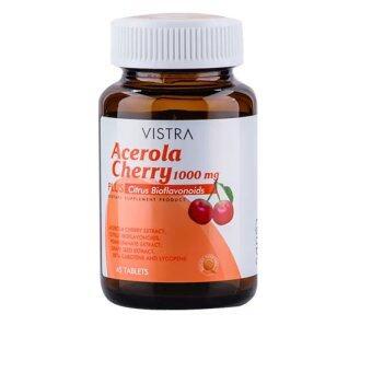 Vistra Acerola Cherry 1000 mg 45เม็ด วิสทร้า อะเซโรลาเชอร์รี่1000มก.