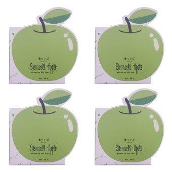 Vivistilla Stemcell Apple Whitening AHA Soap สบู่สเต็มเซลล์แอปเปิ้ล 80g. 4 กล่อง