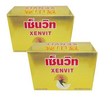 Xenvit รังนกแท้พร้อมดื่ม ผสมโสม(กล่อง 6ขวด x2)