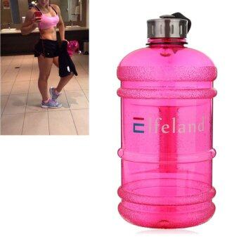 2 PCS 2.2 Liter (Half Gallon) 64oz BPA-Free Large Training Gym Water Bottle Handle Rose marry - intl