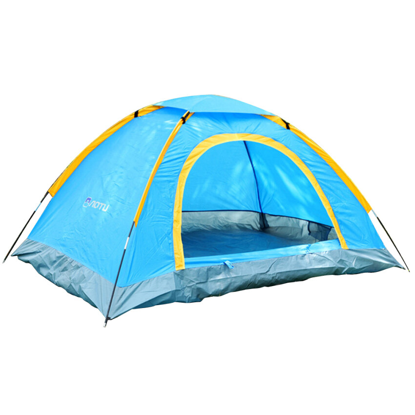 2 Persons Double Double-sided Zipper Beach Tent for Camping Traveling