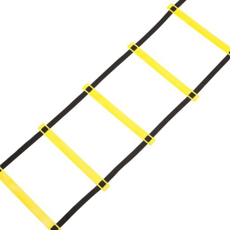 2PCS 5M 9 Section training Soccer Agility Training Football Fitness Foot Speed Ladder bobowaytoway Yellow - intl