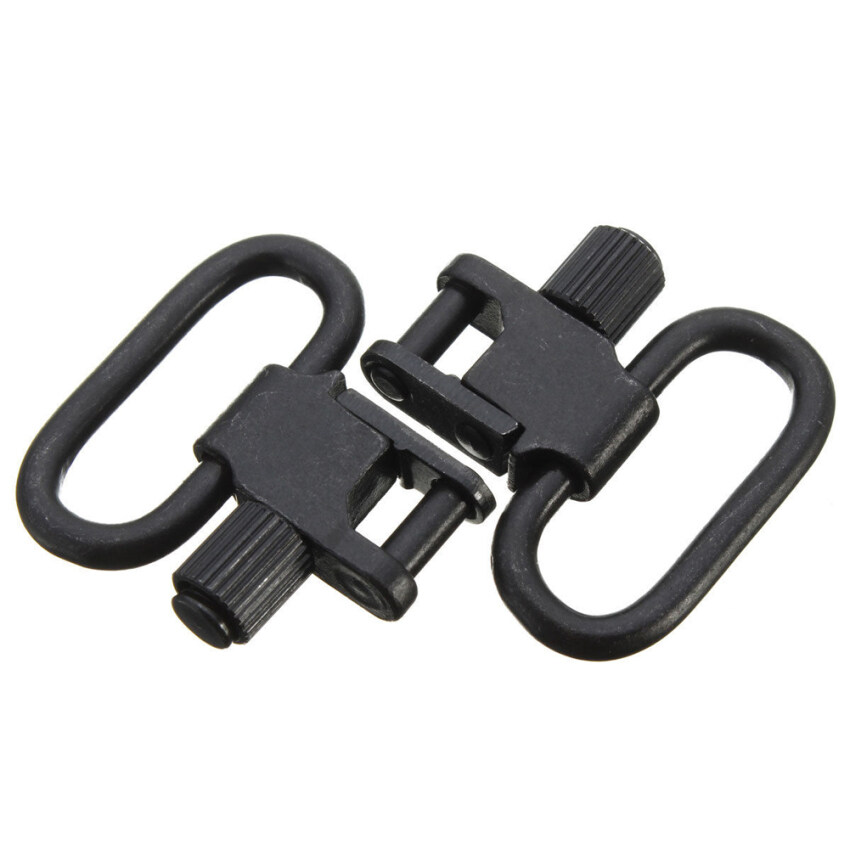 2pcs Quick Detachable 1' Sling Swivel Hunt Accessories Kit for Rifle Shoot ...