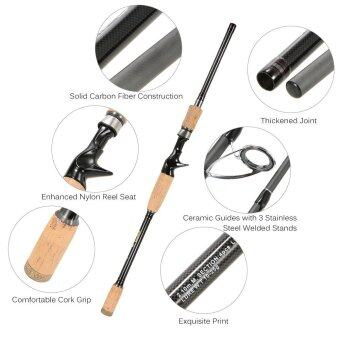 4 Sections Carbon Fiber Portable Baitcasting Spinning Fishing RodMedium Rod Fishing Pole for Saltwater and Freshwatern 2.1m - intl