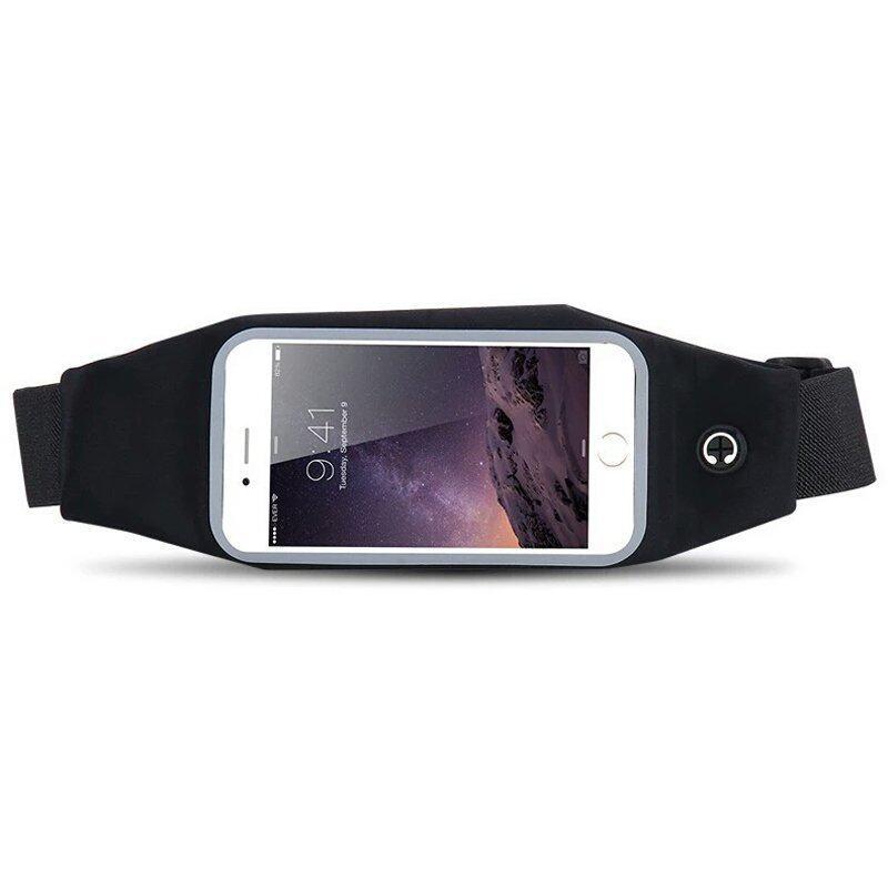 กระเป๋าคาดเอวใส่โทรศัพท์มือถือสมาร์ทโฟน ขนาดหน้าจอ 5.5 นิ้ว (สีดำ)