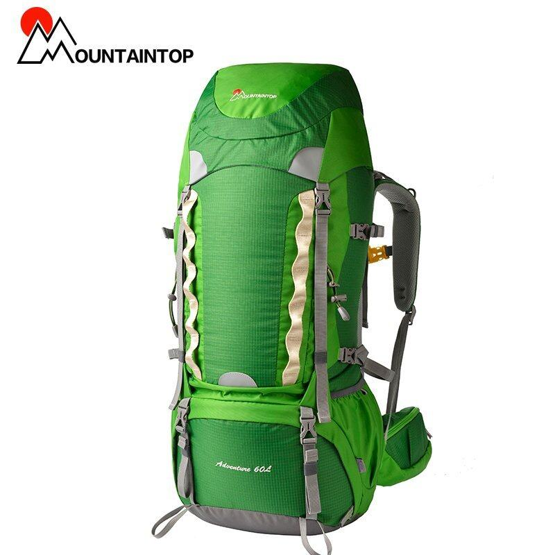 60l Internal Frame Long Haul Hiking Backpack CR Carrying System Terylene Material Unisex Travel Camping Climbing Outdoor Sport Bags (Green) - intl