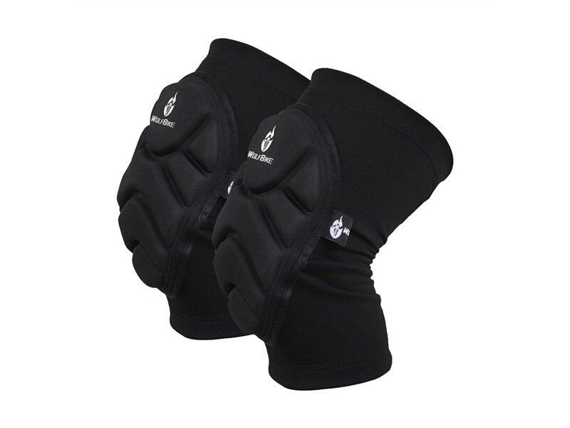 A Pair of WOLFBIKE Unisex Men Women Cycling Skiing Goalkeeper Soccer Football Volleyball Extreme Sports Protective Knee Pads Kneepads Knee Protector - Size M (Black) - intl ...