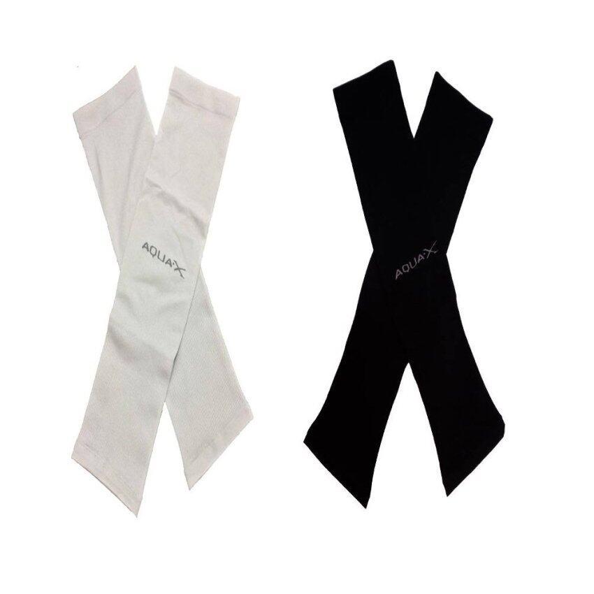 Aqua-X แพ็คคู่ News 2017 ปลอกแขนป้องกัน UV + Ice Skin ( แพ็คคู่ สีดำ,สีเทา ) รุ่น ไม่มีต ...