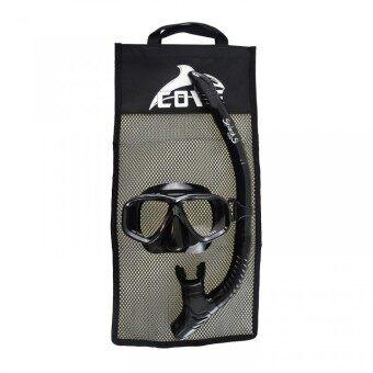 Cove ชุดหน้ากากดำน้ำ รุ่น Splash-S - Black