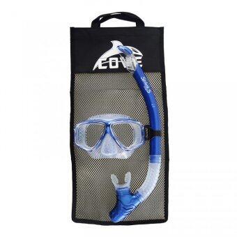 Cove ชุดหน้ากากดำน้ำ รุ่น Splash-S - Metal Blue