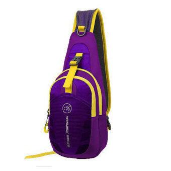 กระเป๋าสะพายไหล่กันน้ำ กระเป๋าคาดอก รุ่น D02 (สีม่วง)