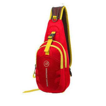 กระเป๋าสะพายไหล่กันน้ำ กระเป๋าคาดอก รุ่น D02 (สีแดง)