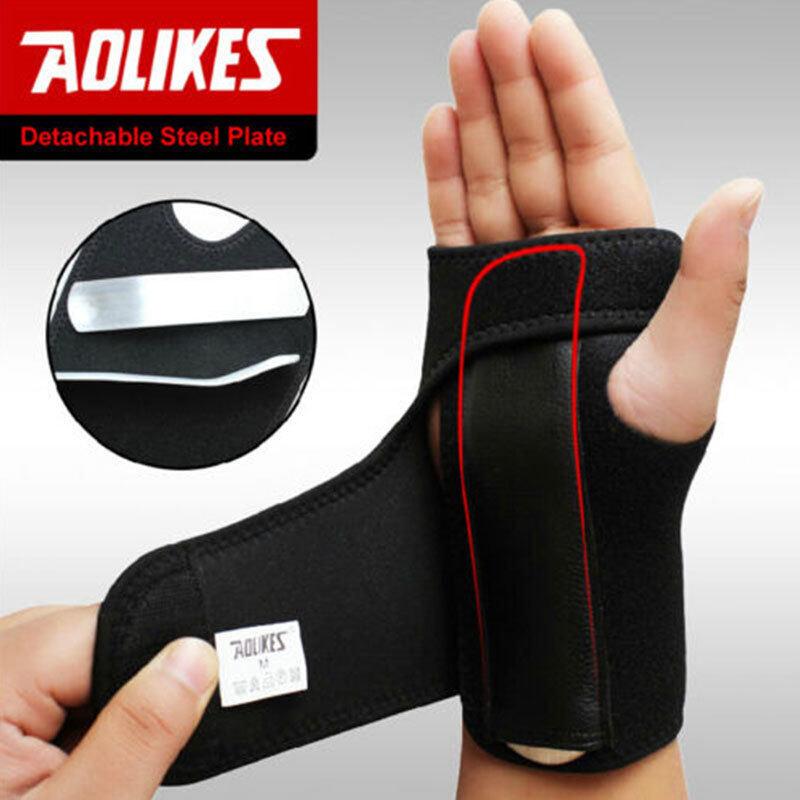 Detachable Steel Splint Wrist Sprain Hand Support Sports Brace Protector