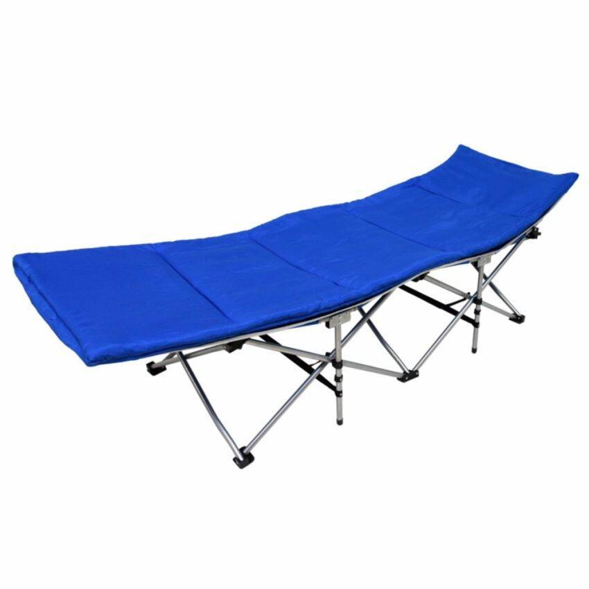 GALAXY เตียงสนามตั้งแคมป์ พับเก็บได้ Camping Bed Folding (สีฟ้า)