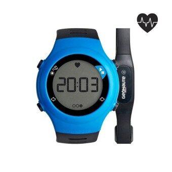 นาฬิกาวัดชีพจร Heart Rate/วัดอัตราการเต้นของหัวใจ รุ่น ONRHYTHM 110 พร้อมสายรัดหน้าอก (สีฟ้า)