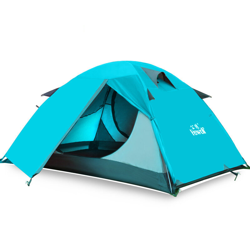 Hewolf Outdoor Waterproof 2 Person Camping Tent with Carry Bag(Lake blue) - Intl