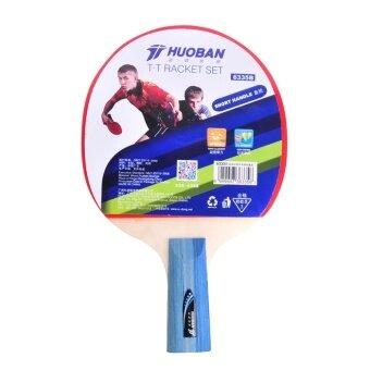 HUOBAN 6335B Table Tennis Racket Ping Pong Paddle Long Handle Double Face Table Tennis Racket Set With Balls Bag - intl